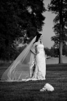 Artistic Black and White Bridal Portrait, Philly Wedding, Photo on Location, Christine Foster photo